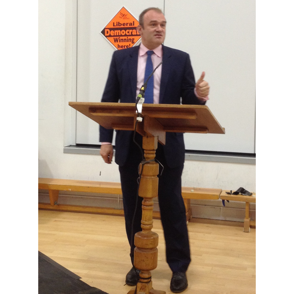 Ed Davey goves keynote speech at Sth Central Lib Dems's Autumn Conference