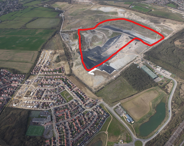 Aerial Bletchley Landfill